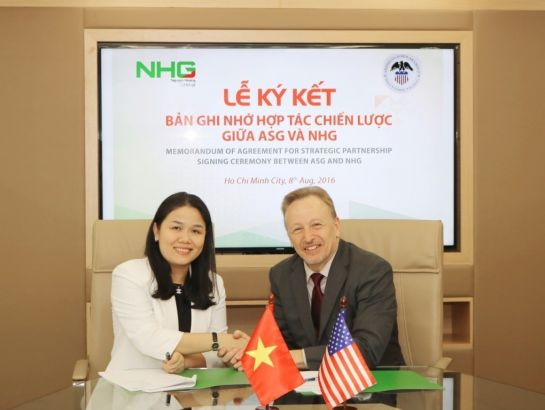 NHG and ASG signed the Memorandum of agreement for strategic partnership on August 8th at the group office