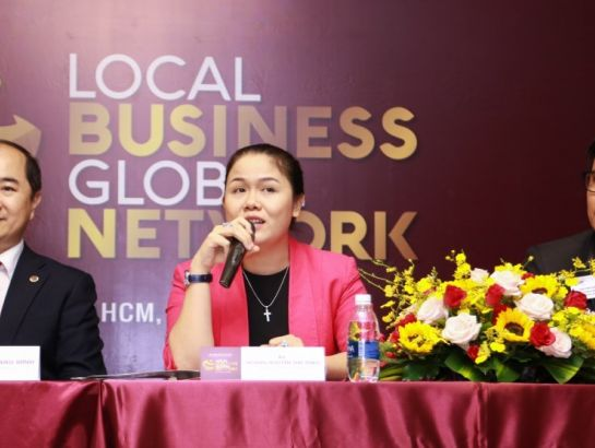 """I strongly believe the cooperation between NHG - BNI will help strengthen the business community, especially youth generations together with Vietnam to step up global integration."", said Ms. Hoang Nguyen Thu Thao, CEO of NHG at the event."
