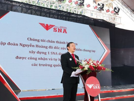 Mr. Dominic Vigil – Principal of SNA made speech at the ceremony