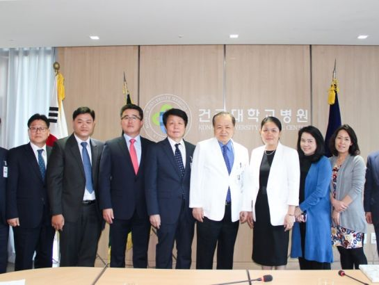 NHG board of leaders visited Konkuk University Medical Center at Seoul, Korea with the reception of Mr. Yang Jung-hyun, Director.