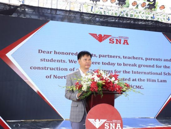 Mr. Tran Dai Hai, Vice Chairman of NHG made speech at the ceremony