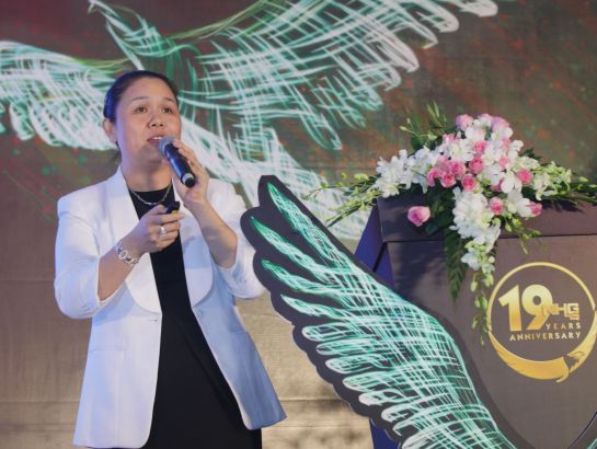 Ms. Hoang Nguyen Thu Thao – CEO of NHG summarized the activities of NHG in the financial year XI.