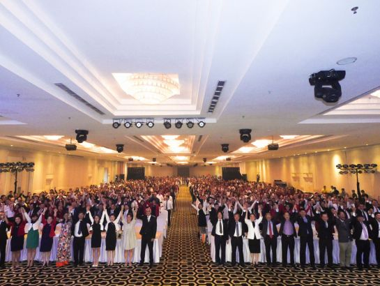 More than NHG 2,000 staffs expressed their determination to achieve the objectives of financial year XII.