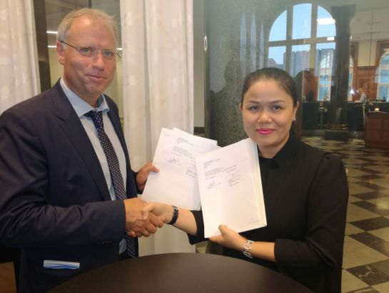 "Ms. Hoang Nguyen Thu Thao - CEO of NHG said: ""The agreement we signed with Claned Group or other cooperative agreements signed in this trip with Haaga University of Applied Sciences - Helia (Finland), Ranum Efterskole High School (Denmark) is in line with the internationalization orientation of NHG education system"""