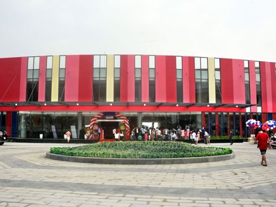 Front of the central admin block of the International Education City - IEC Quang Ngai