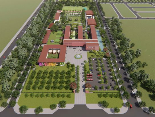 3D Perspective - Overview of iSchool Quang Tri.