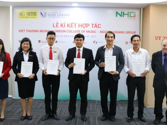 Representatives of NHG's member schools received LCME Certificate at the event