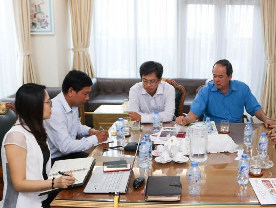 NHG to welcome the delegation of An Giang leaders