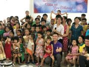 "The class MBA 18K6(Ba Ria - Vung Tau University)had collaborated with Vung Tau's Children Sponsor center to organize the program named ""Sharing love"" for nearly 100 children living here."